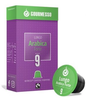 Lungo Arabica Forte Fairtrade, Gourmesso– 10kapslí pro Nespresso kávovary