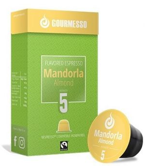Soffio Mandorla (mandle), Gourmesso– 10kapslí pro Nespresso kávovary