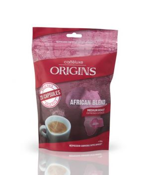 African Blend, Cafféluxe Origins– 25kapslí pro Nespresso