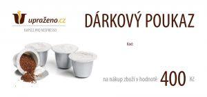 Dárkový poukaz Upraženo.cz 400Kč - tištěný