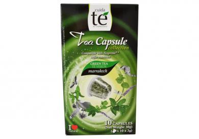 Upraženo - Čaj zelený Marrakech, Cuida Té - 10 kapslí pro Nespresso