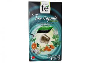 Čaj zelený Mediterranean, Cuida Té - 10 kapslí pro Nespresso