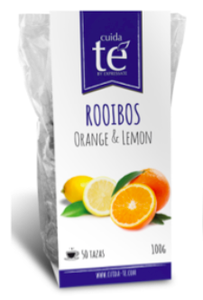 Sypaný Rooibos čaj Orange & Lemon, Cuida Té 100 g