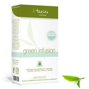 Čaj Gourmesso Green Infusion - 10 kapslí pro Nespresso