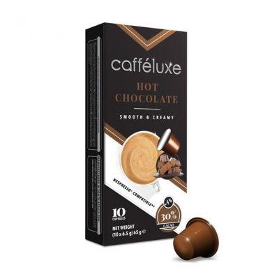 Upraženo - Horká čokoláda– Hot Chocolate, Cafféluxe– 10kapslí pro Nespresso kávovary