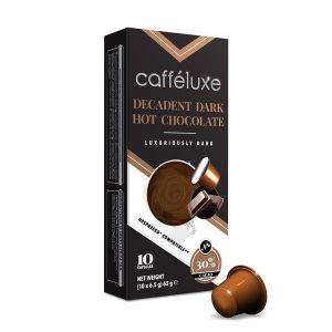 Horká čokoláda- Dark Hot Chocolate, Cafféluxe - 10 kapslí pro Nespresso