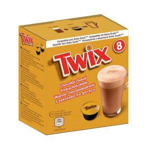 Twix- Horká čokoláda, Cafféluxe - 8 kapslí pro Dolce Gusto