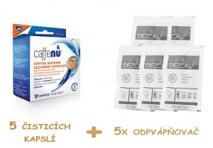 Čisticí sada pro Nespresso kávovary - čisticí kapsle + 5x odvápňovač