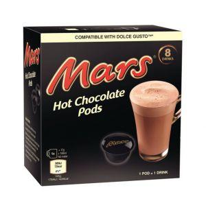 Mars- Horká čokoláda, Cafféluxe - 8 kapslí pro Dolce gusto