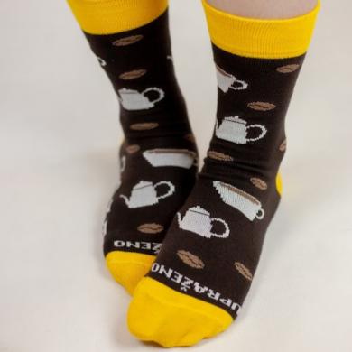 Upraženo - Univerzální pár ponožek s potiskem zrnek
