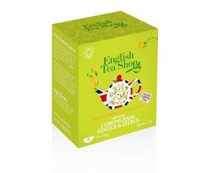 English Tea Shop BIO čaj Citrónová tráva, zázvor a citrusy - 8 sáčků