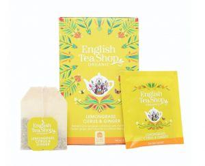 English Tea Shop BIO čaj Citrónová tráva, zázvor a citrusy - 20 sáčků