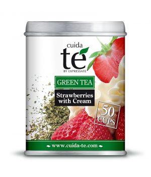 Sypaný zelený čaj Jahody a smetana, Cuida Té 100 g