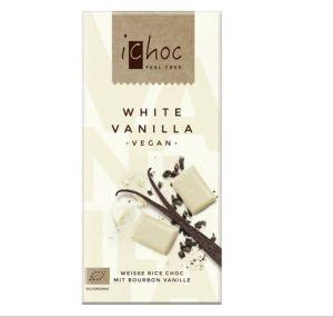 iChoc BIO vegan  BÍLÁ VANILKOVÁ rýžová čokoláda - 80 g