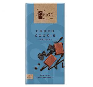 iChoc BIO vegan CHOCO COOKIE rýžová čokoláda - 80 g