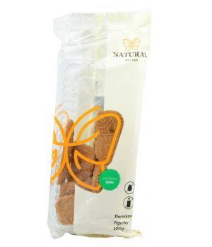 Perníkové celozrnné sušenky bez vajec a mléka, Natural - 120 g