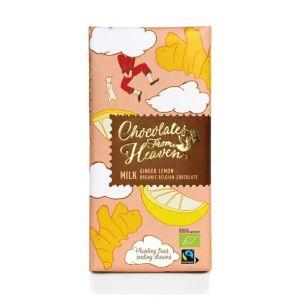 Chocolates from Heaven BIO mléčná čokoláda se zázvorem a citronem 37 % - 100 g