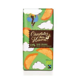 Chocolates from Heaven BIO hořká čokoláda s pomerančem 72 % - 100 g