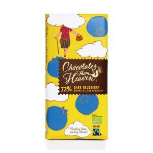 Chocolates from Heaven  BIO hořká čokoláda s borůvkami 72 % - 100g
