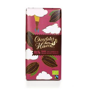 Chocolates from Heaven BIO hořká čokoláda Peru a Dominikánská republika 85 % - 100g