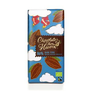 Chocolates from Heaven BIO hořká čokoláda Peru 80 % - 100 g