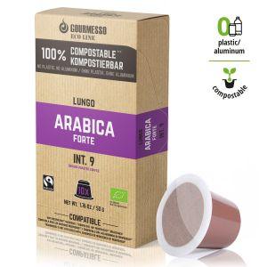 Eco Line Lungo Arabica Forte, Gourmesso - 10 kompostovatelných kapslí pro Nespresso kávovary