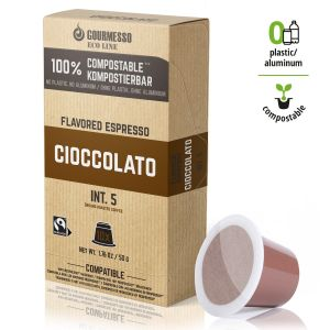 Eco Line Cioccolato, Gourmesso - 10 kompostovatelných kapslí pro Nespresso kávovary