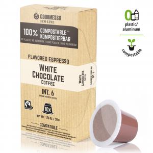 Eco Line White Chocolate, Gourmesso - 10 kompostovatelných kapslí pro Nespresso kávovary