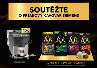 BeWooden - Soutěž s kapslemi L'OR o prémiový kávovar Siemens