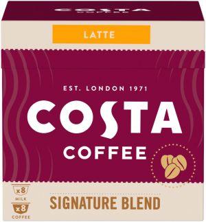 Costa Coffee Signature Blend Latte 8+8 kapslí pro Dolce Gusto kávovary