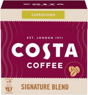 Costa Coffee Signature Blend Cappuccino - 8+8 kapslí pro Dolce Gusto kávovary