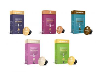 Upraženo - Kávy s příchutí, testovací balíček Gourmesso– 50kapslí pro Nespresso kávovary